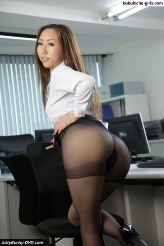 AV Idol Ruka Ichinose stars as a super sexy office lady with long legs and fat, round ass. Ruka strips at the office and shows her big soft boobs and fingers her trimmed Japanese pussy.
