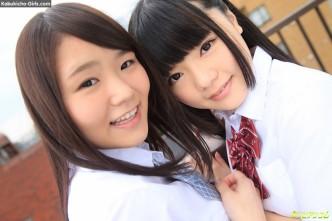 JAV Idols Sanae Akino &  Kaede Aoshima, 秋野早苗  青島かえで